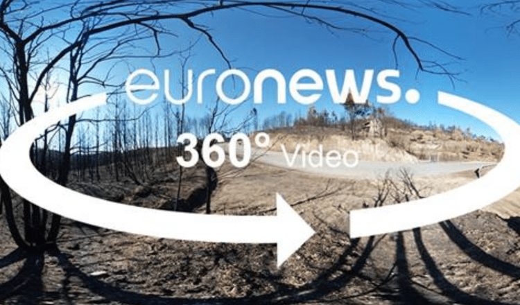 A 360° Video on the Wildfires in Portugal with Euronews